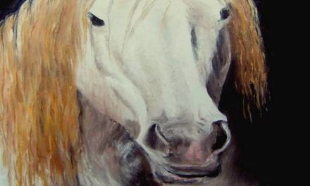 CHEVAL ROUX . huile couteau