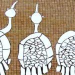 LES 3 ECHASSIERS . mosaïque murale