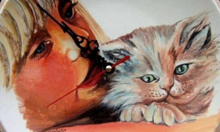 AMOUR DE CHAT . gouache