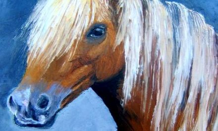 CHEVAL . huile couteau