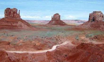 MONUMENT VALLEY . huile couteau